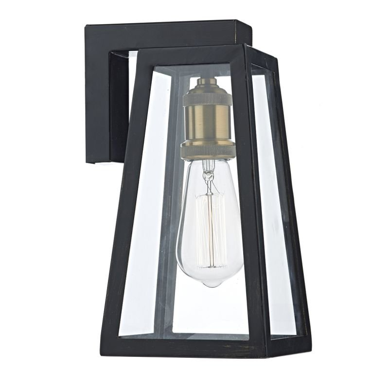Dar-DUV1522 - Duval - Outdoor Black Lantern Wall Lamp