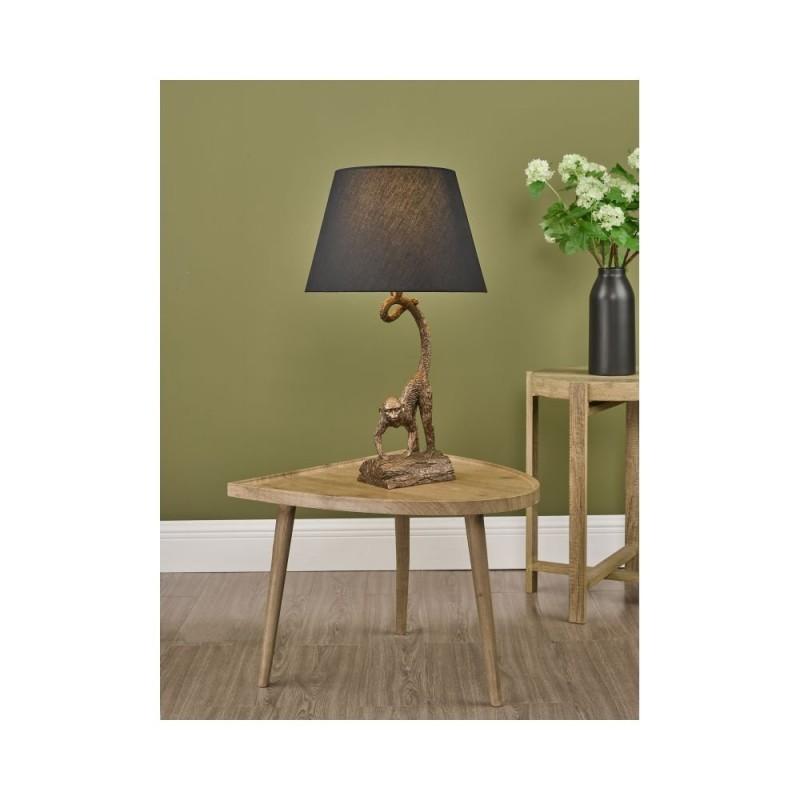 Dar-DWA4222 - Dwayne - Black Shade & Bronze Monkey Table Lamp