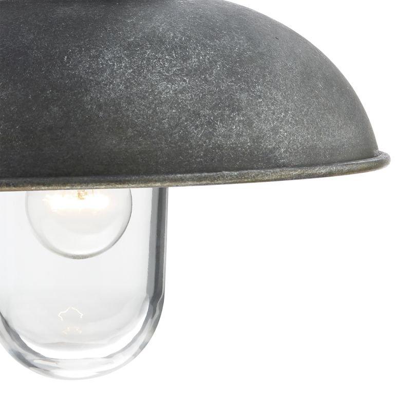 Dar-DYN0737 - Dynamo - Outdoor Aged Aluminium with Clear Glass Wall Lamp