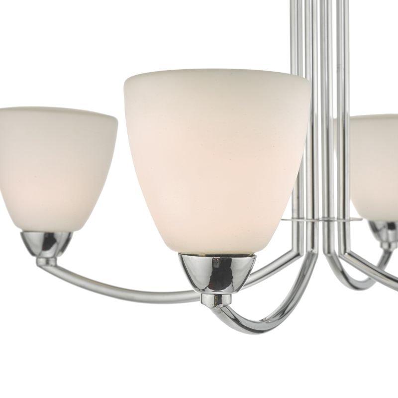 Dar-EDA0450 - Edanna - Bathroom Chrome and Opal Glass 4 Light Ceiling Lamp