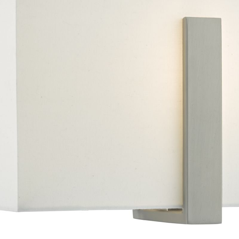 Dar-EDU0746 - Eduardo - Ivory Shade with Antique Nickel Wall Light