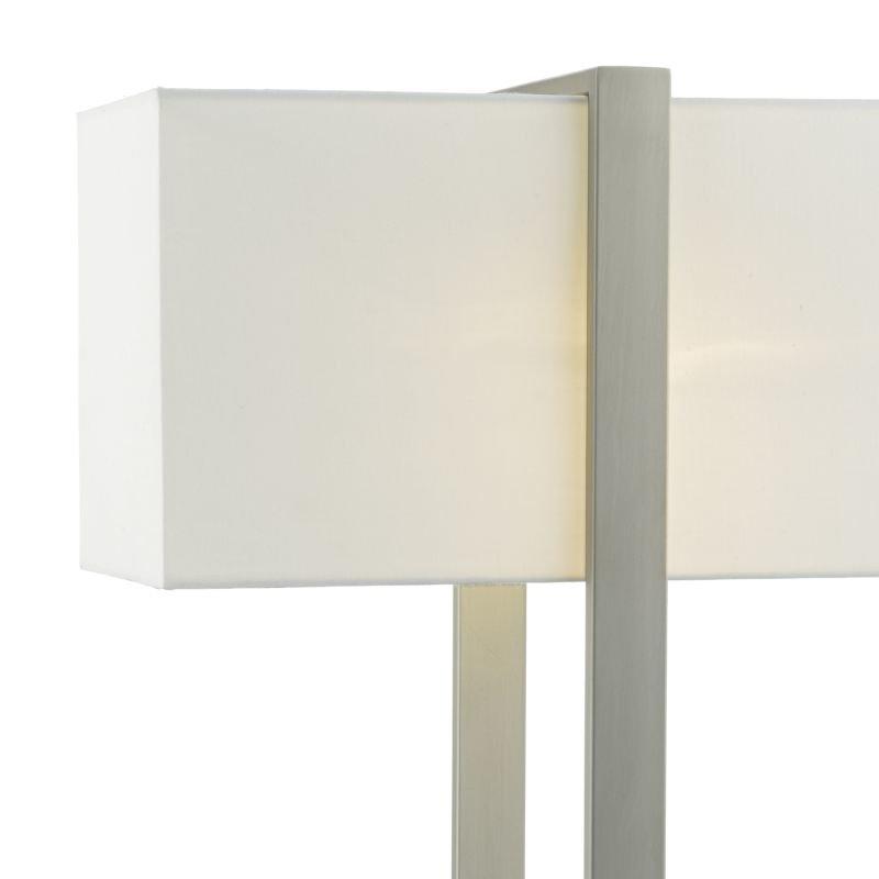 Dar-EDU4246 - Eduardo - Ivory Shade with Antique Nickel Table Lamp
