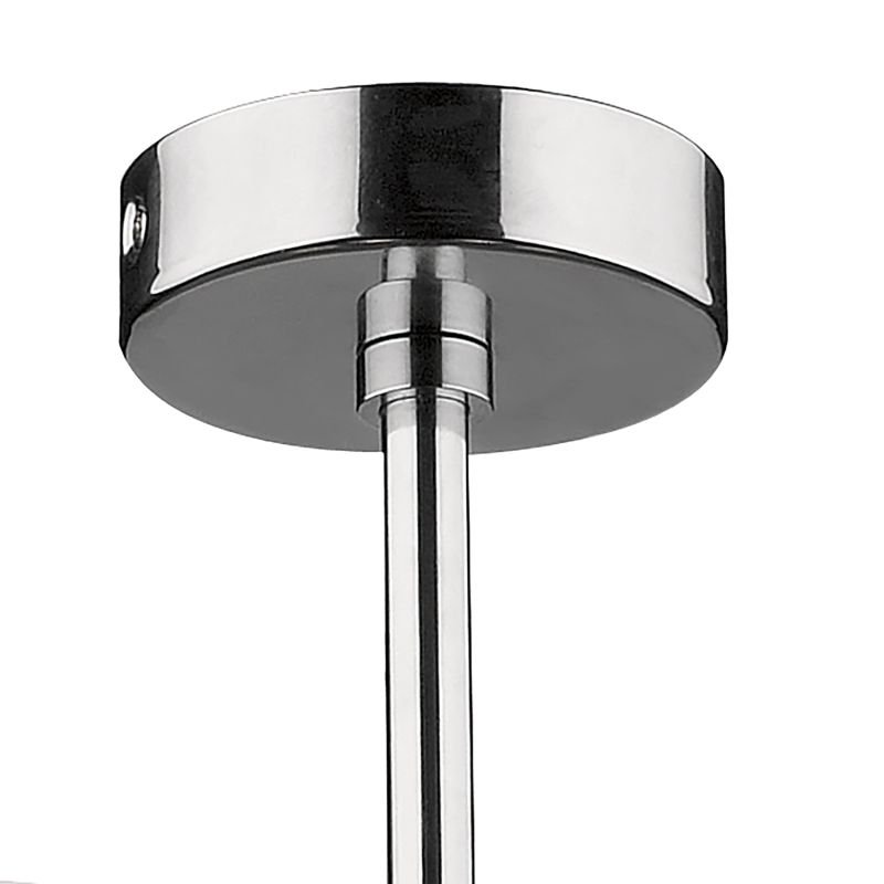 Dar-ELB0550 - Elba - Bathroom Chrome and Ribbed Glass 5 Light Semi Flush