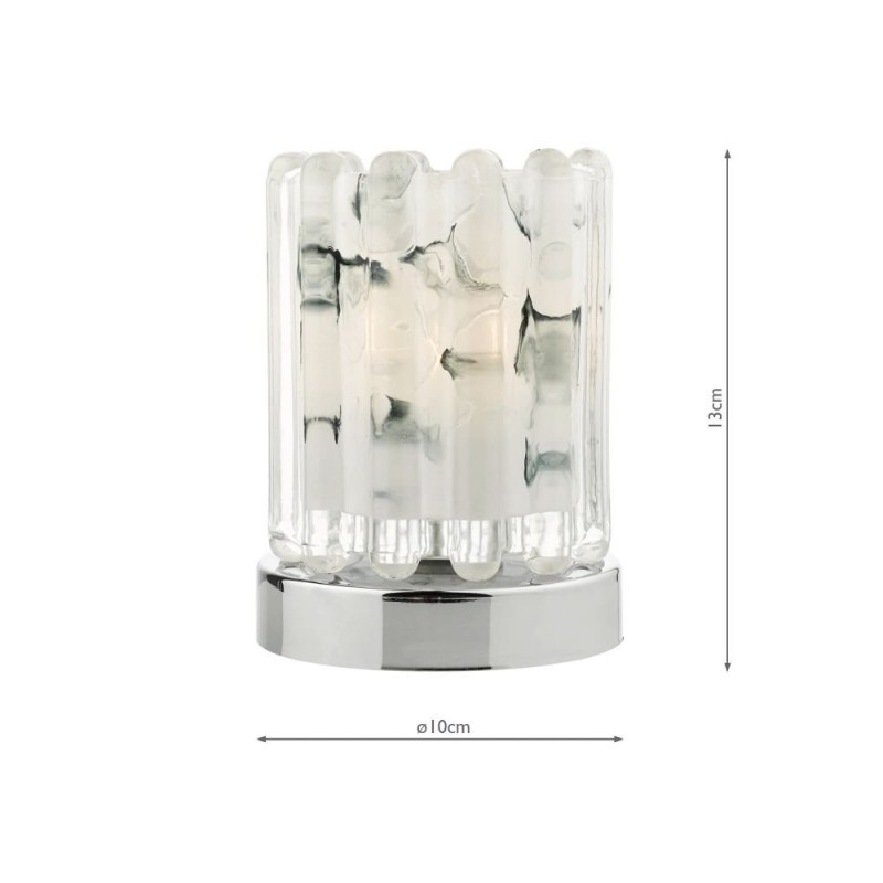 Wisebuys-ELF4150 - Elf - Marble Glass & Chrome Touch Table Lamp