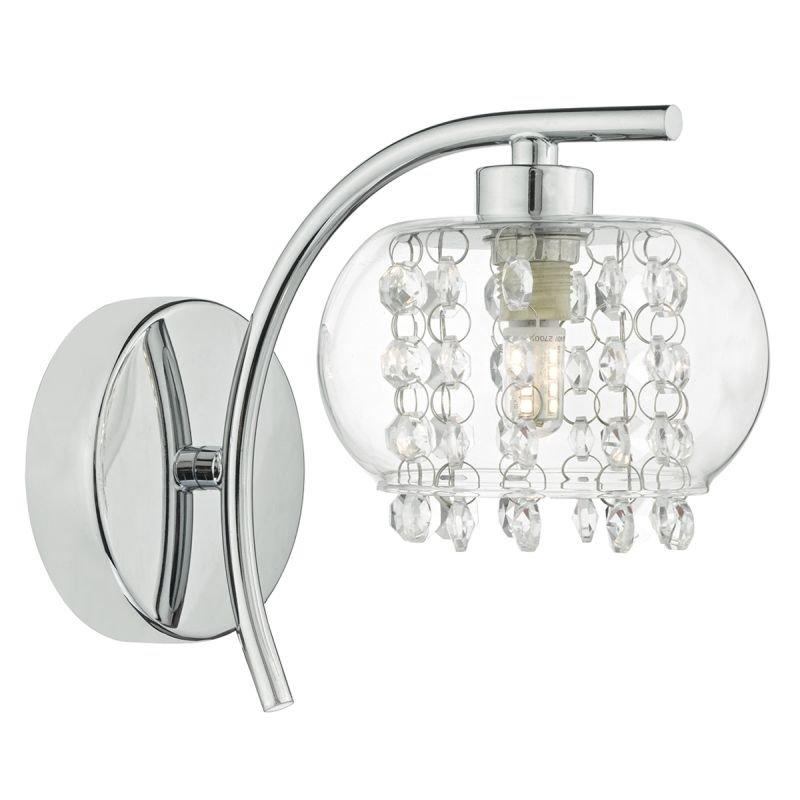 Dar-ELM0750 - Elma - Clear Glass & Crystal with Chrome Wall Lamp