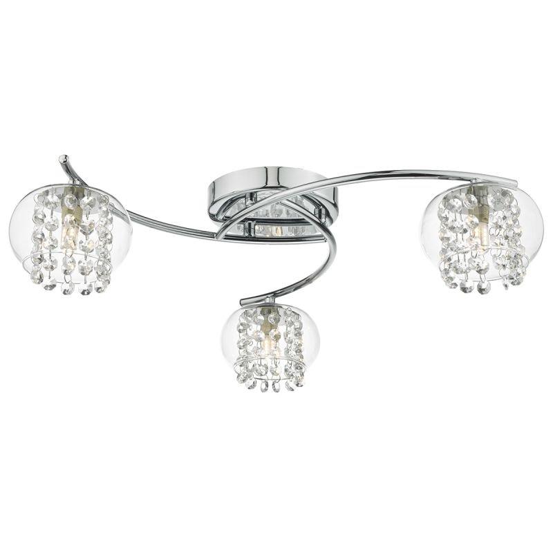 Dar-ELM5350 - Elma - Clear Glass & Crystal with Chrome 3 Light Centre Fitting