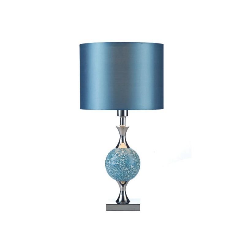 Wisebuys-ELS4223 - Elsa - Blue Mosaic & Chrome Table Lamp