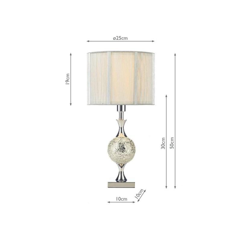 Wisebuys-ELS4239 - Elsa - Mirror Mosaic & Chrome Table Lamp