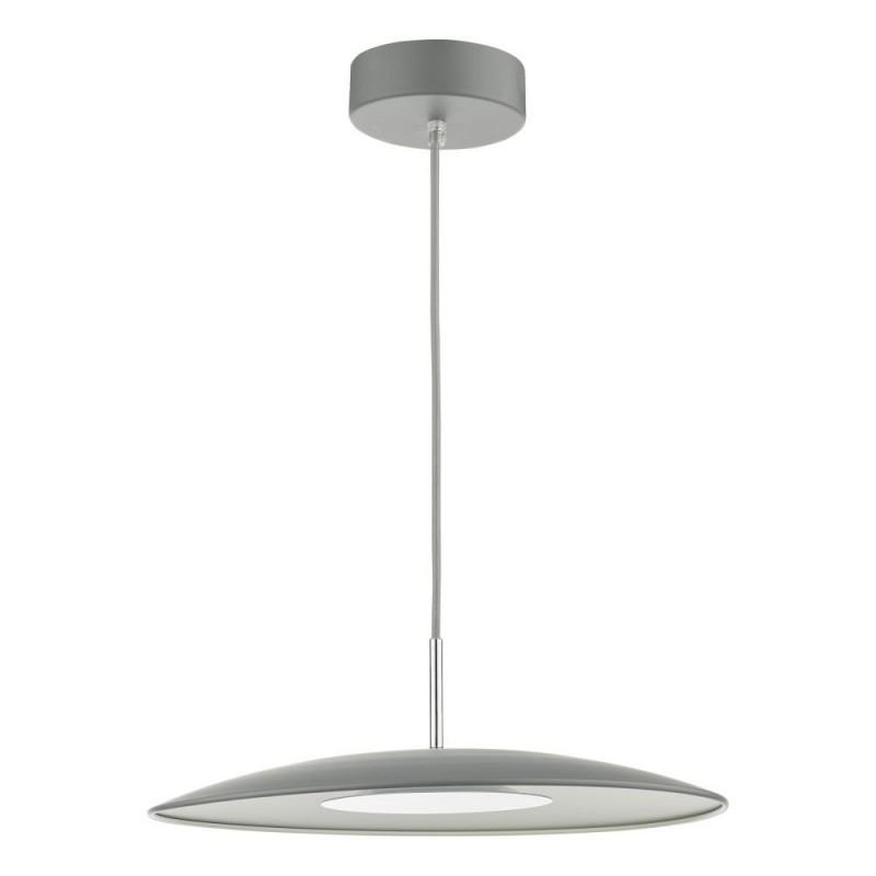 Dar-ENO0139 - Enoch - LED Matt Grey & Stainless Steel Pendant