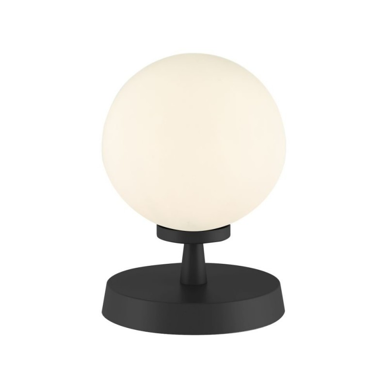 Dar-ESB4122-02 - Esben - White Glass & Black Touch Table Lamp