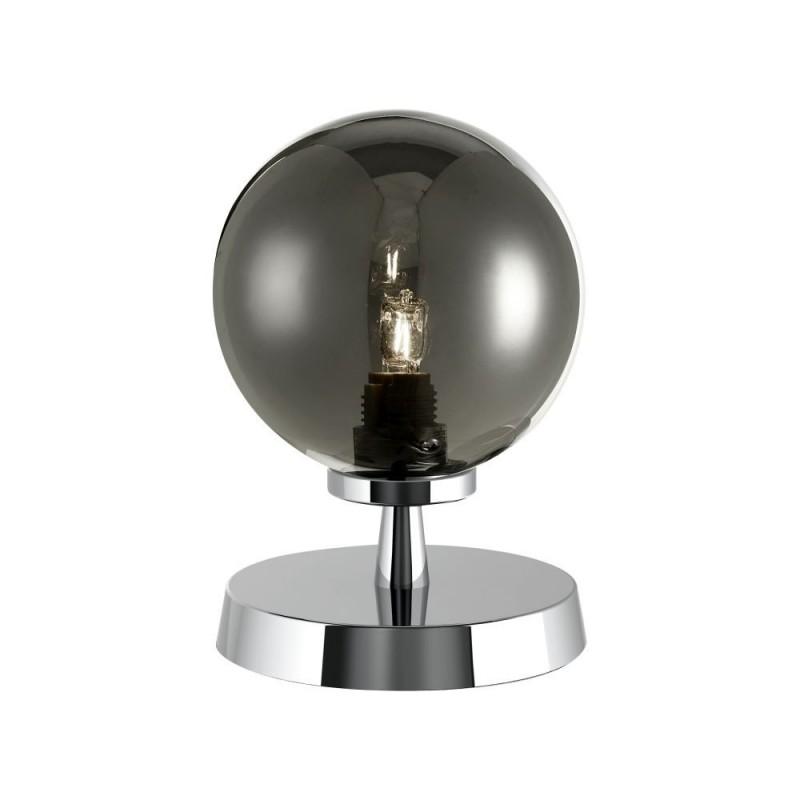 Dar-ESB4150-01 - Esben - Smoky Glass & Chrome Touch Table Lamp