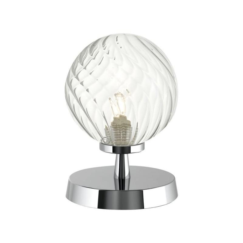 Dar-ESB4150-03 - Esben - Twisted Clear Glass & Chrome Table Lamp