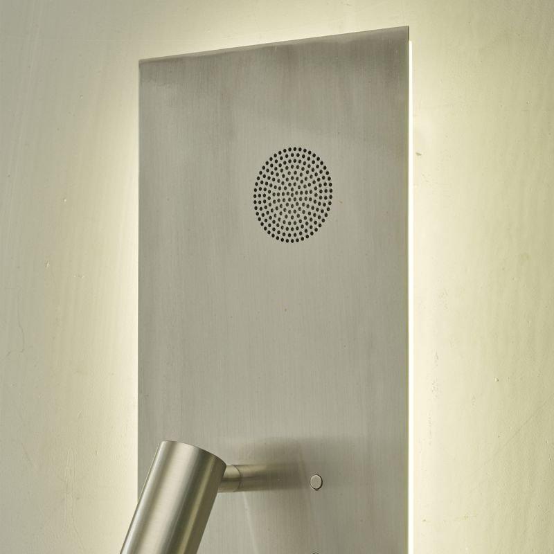 Dar-ETA7146 - Eta - LED Satin Nickel with Bluetooth Speaker Double Wall Lamp