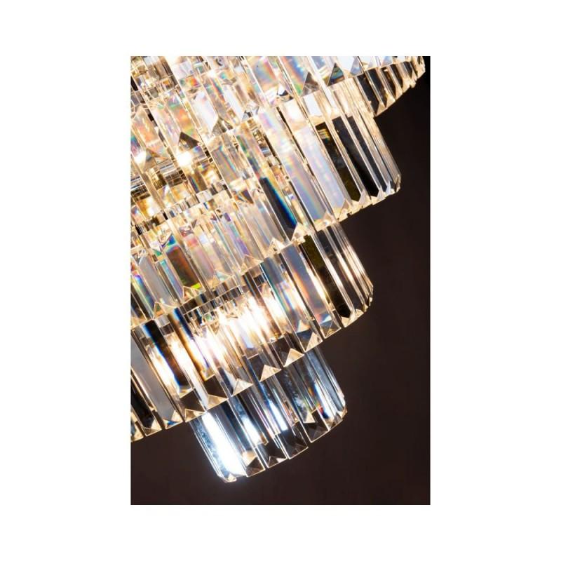 Dar-EUL1250 - Eulalia - Crystal & Chrome 12 Light Chandelier