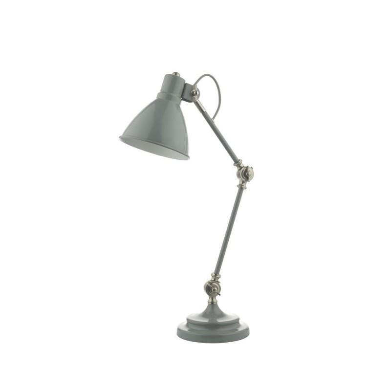 Wisebuys-EUN4239 - Eunice - Grey & Satin Nickel Desk Lamp
