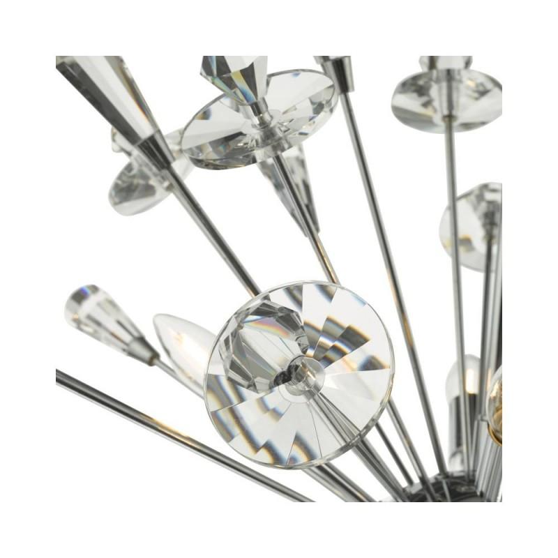 Dar-EXO0850 - Exodus - Crystal & Polished Chrome Sputnik Centre Fitting