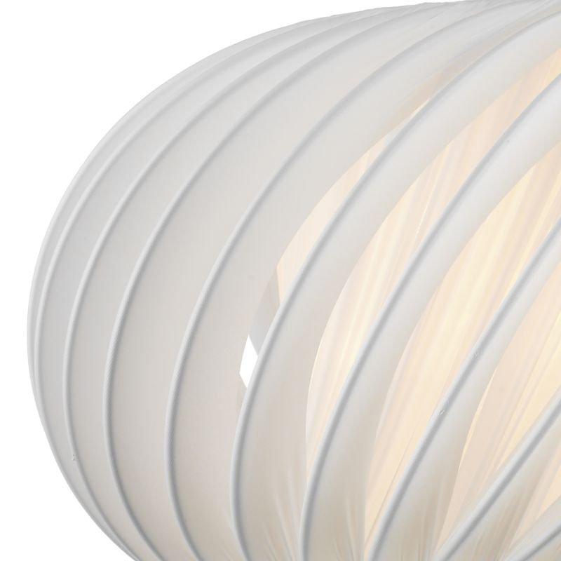 Dar-EXP6533 - Explorer - Small Slanting White Fabric Shade for Hanging Pendant