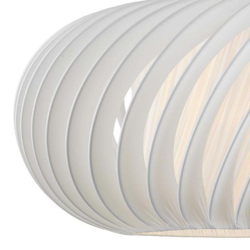 Dar-EXP8633 - Explorer - Big Slanting White Fabric Shade for Hanging Pendant