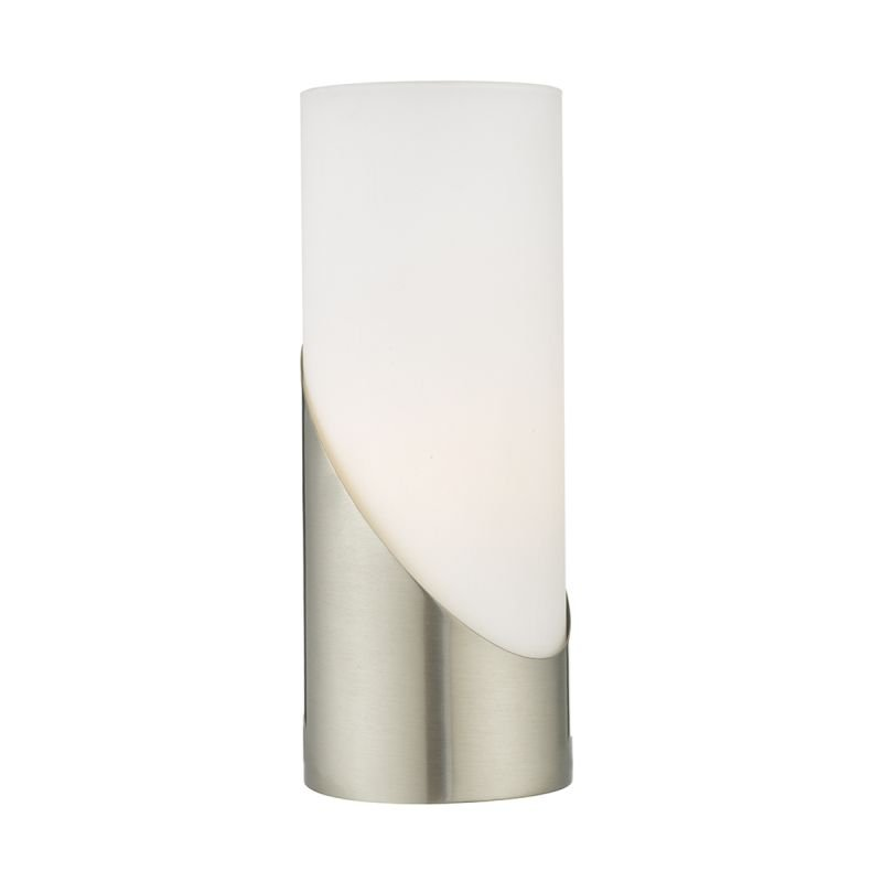 Wisebuys-FAR4246 - Faris - Opal Glass & Satin Nickel Touch Lamp