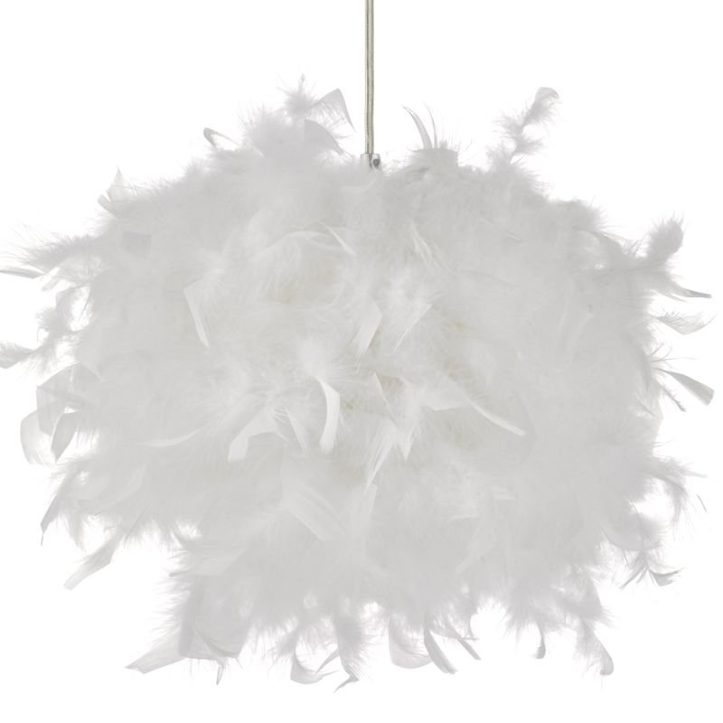 Wisebuys-FEA652 - Feather - Real White Feathers Shade for Hanging Pendant