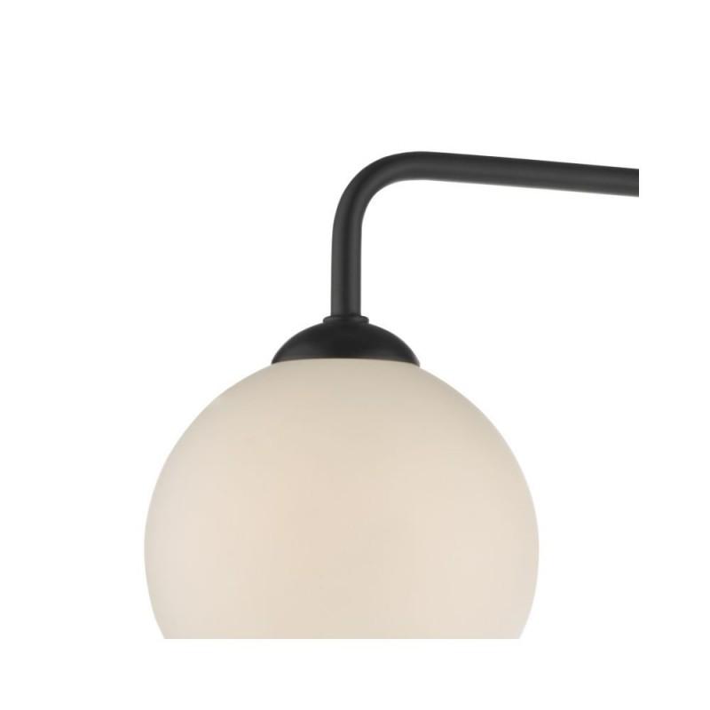 Dar-FEY0322-02 - Feya - White Glass & Black 3 Light Semi Flush