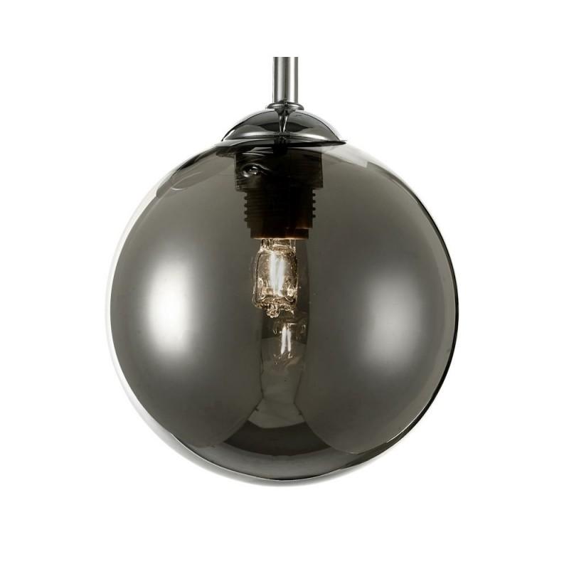 Dar-FEY0350-01 - Feya - Smoky Glass & Chrome 3 Light Semi Flush