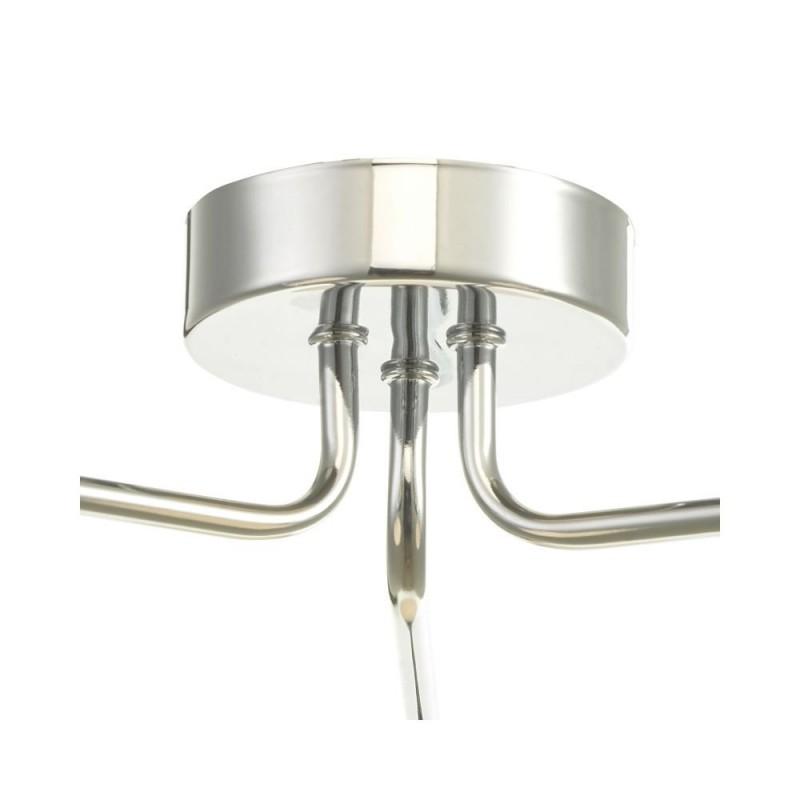 Dar-FEY0350-02 - Feya - White Glass & Chrome 3 Light Semi Flush