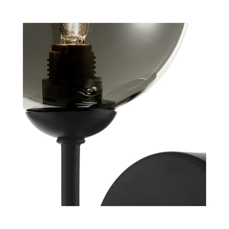 Dar-FEY0722-01 - Feya - Smoky Glass & Black Wall Lamp