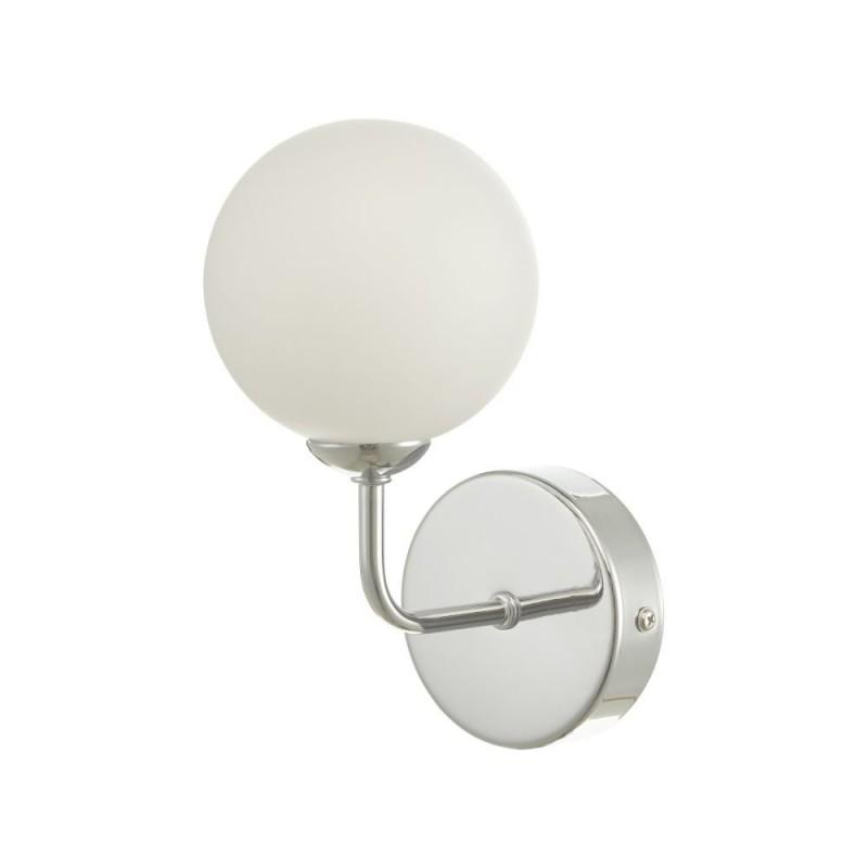 Dar-FEY0750-02 - Feya - White Glass & Chrome Wall Lamp