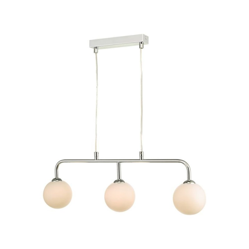 Dar-FEY6250-02 - Feya - White Glass & Chrome 3 Light over Island Fitting