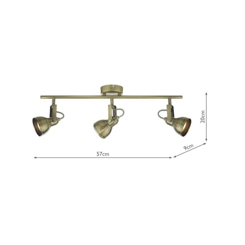 Wisebuys-FOT7375 - Fothergill - Antique Brass 3 Spotlights
