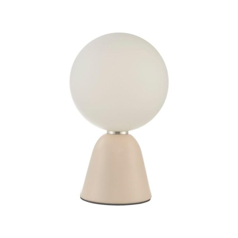 Wisebuys-FRA403 - Francesca - White Globe & Pink Table Lamp