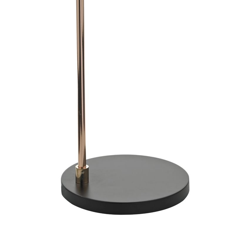 Dar-FRE4922 - Frederick - Black & Polished Copper Floor Lamp