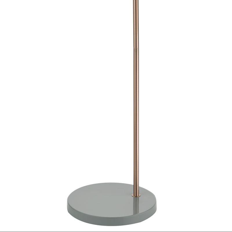 Dar-FRE4939 - Frederick - Grey & Copper Floor Lamp