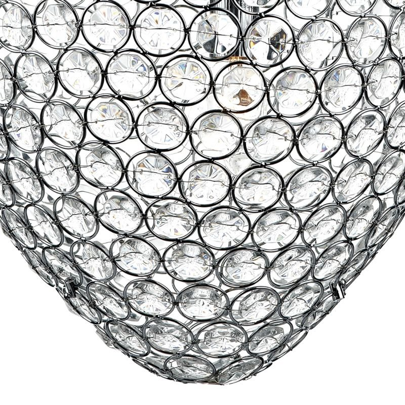 Dar-FRO0350 - Frost - Chrome & Crystal 3 Light Hanging Pendant