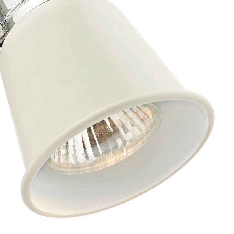 Dar-FRY0733 - Fry - Modern Cream and Polished Chrome Spotlights Wall Lamp