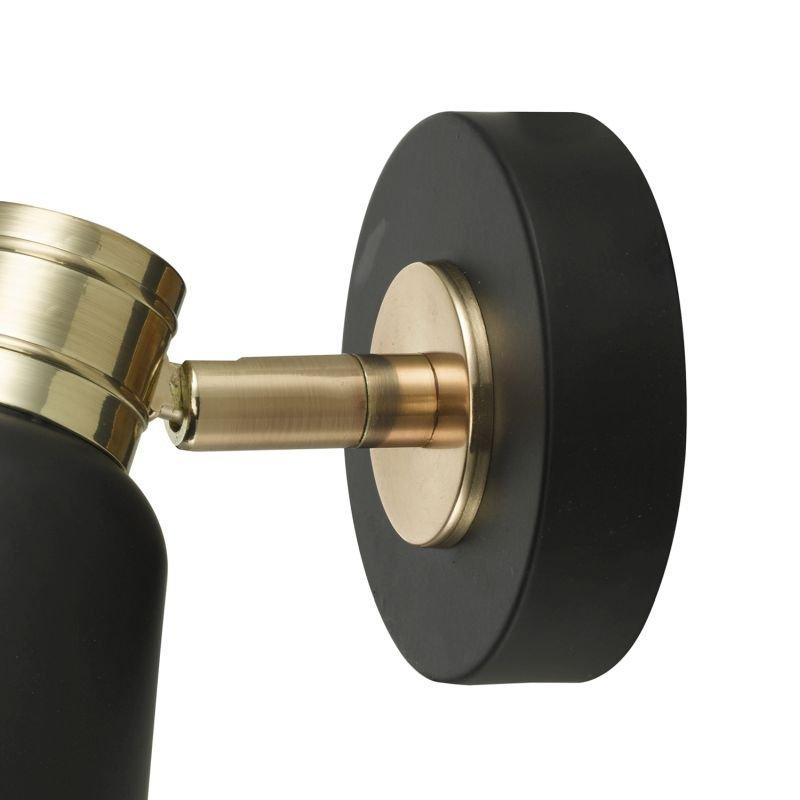 Dar-FRY0754 - Fry - Modern Black and Rose Gold Spotlights Wall Lamp