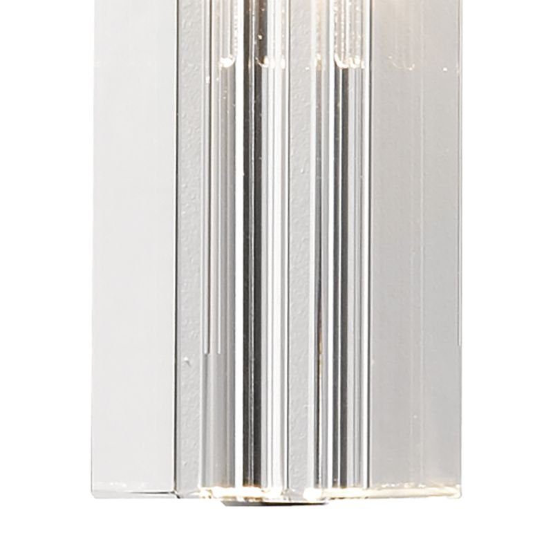 Dar-GAL0750A-LED - Galileo - Crystal Block with Chrome Single Wall Lamp