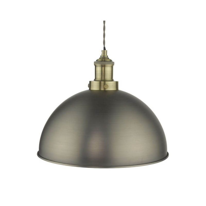 Dar-GOV0161 - Governor - Antique Chrome & Antique Brass Pendant