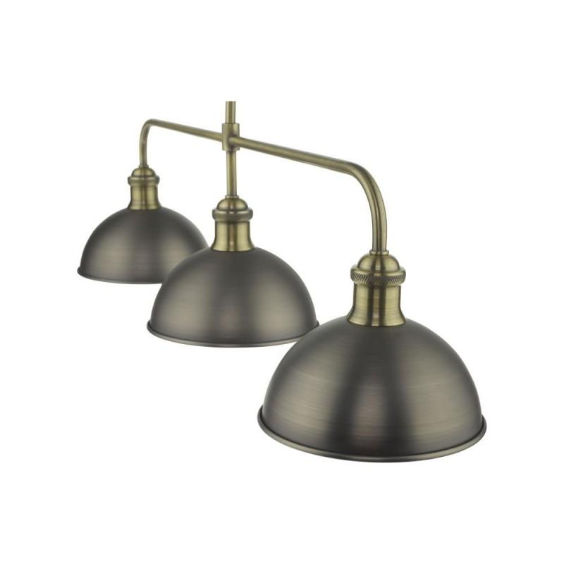Dar-GOV0361 - Governor - Antique Chrome & Antique Brass 3 Light Bar