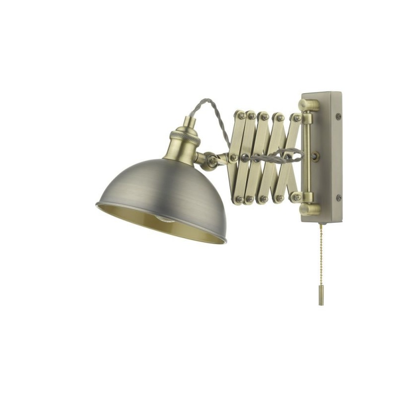 Dar-GOV0761E - Governor - Antique Chrome & Antique Brass Wall Lamp