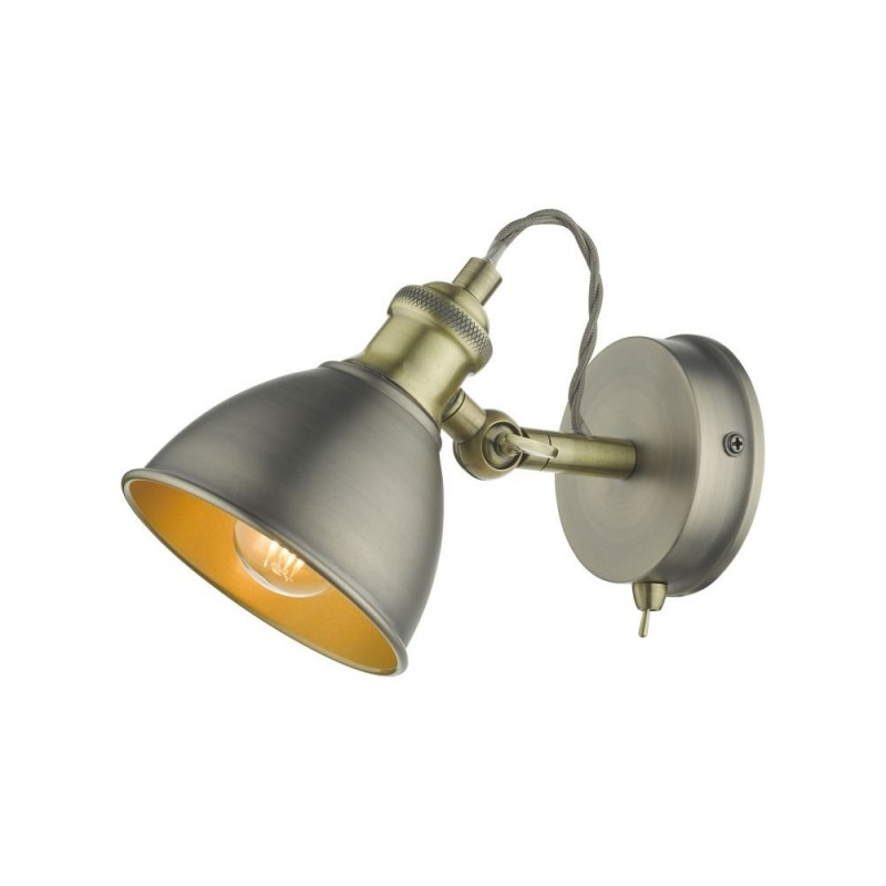 Dar-GOV0761 - Governor - Antique Chrome & Antique Brass 1 Spotlight