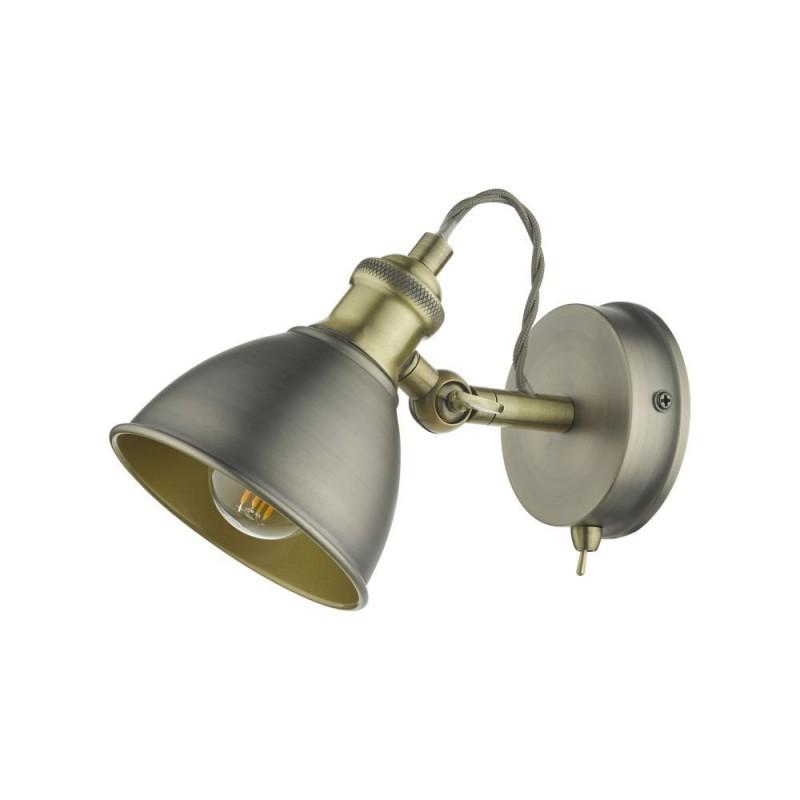 Dar-GOV0761 - Governor - Antique Chrome & Antique Brass 1 Spotlight