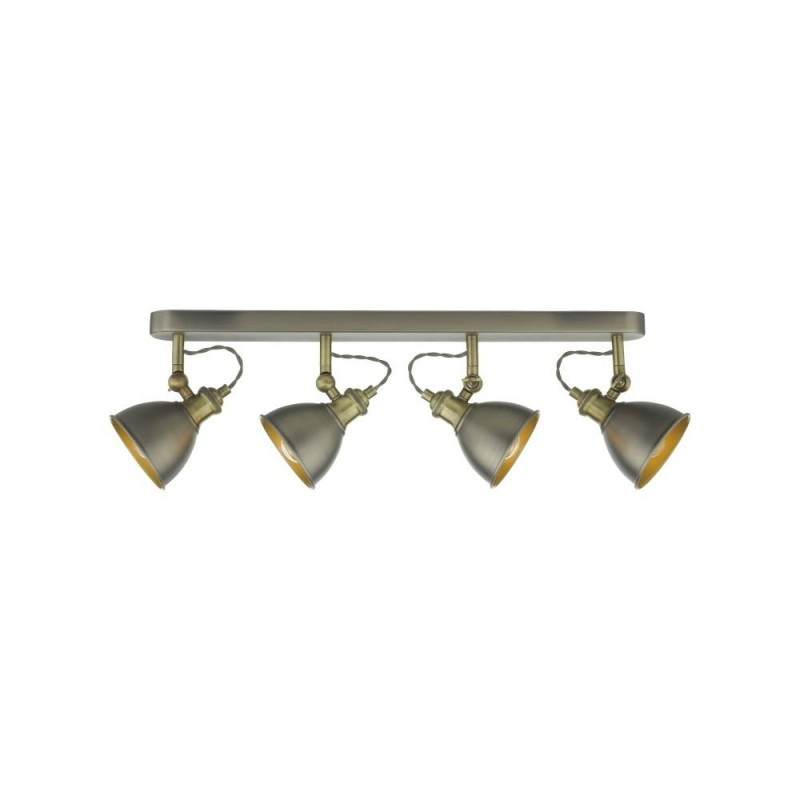 Dar-GOV8461 - Governor - Antique Chrome & Antique Brass 4 Spotlights