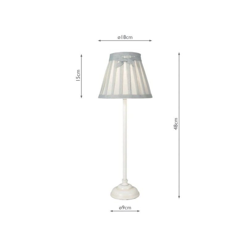 Wisebuys-GRA422 - Grace - Antique White & Grey Linen Table Lamp