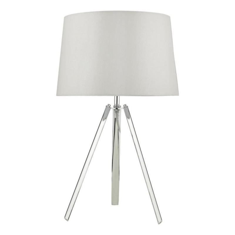 Dar-GRI4239 - Griffith - Polished Chrome Tripod Table Lamp