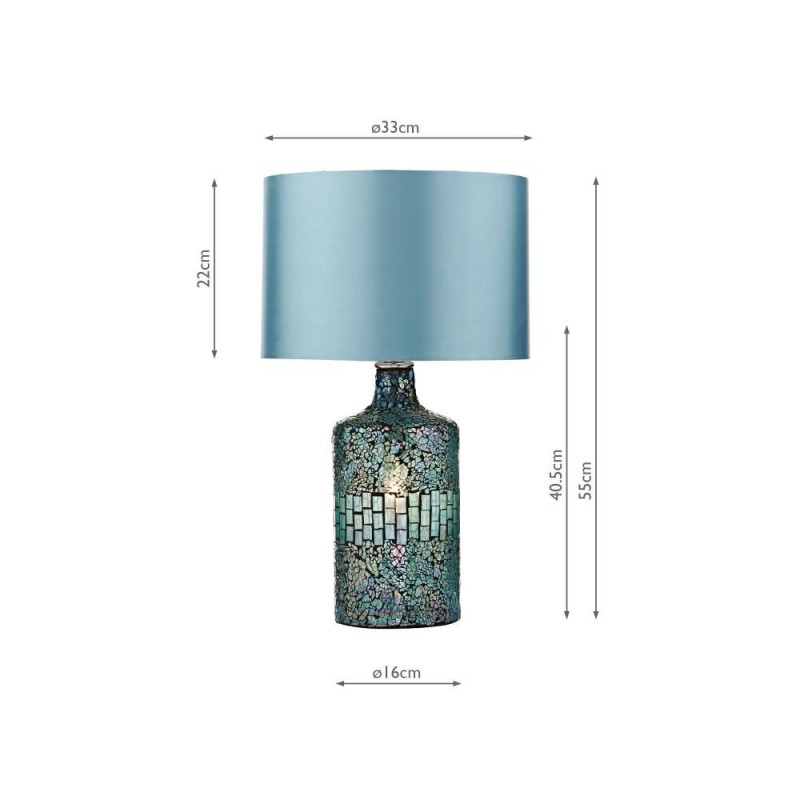 Wisebuys-GUR4223 - Guru - Blue Mirror Mosaic Table Lamp