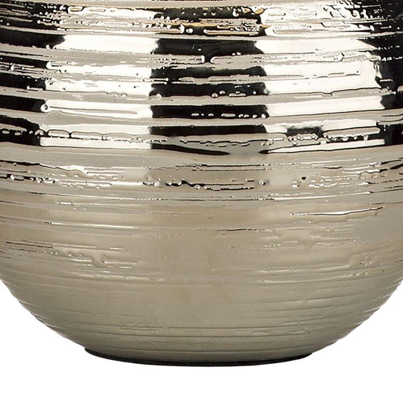 Dar-GUS4032 - Gustav - Small Silver Textured Ceramic Table Lamp