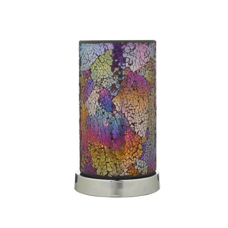 Wisebuys-HAK4255 - Hakan - Multi coloured Mosaic Glass Touch Table Lamp