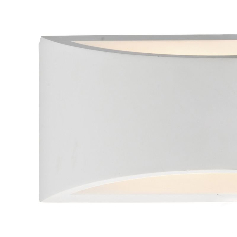 Dar-HOV372 - Hove - Washer White Ceramic Up&Down Big Wall Lights